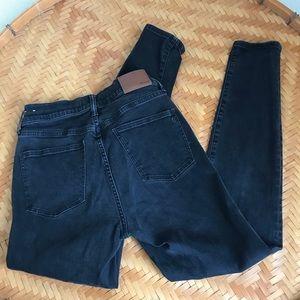 "Worn In Madewell 9"" High Rise Skinny Jeans"